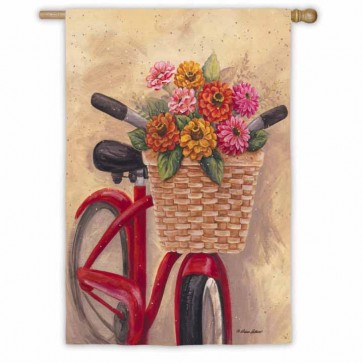Flower Basket House Flag
