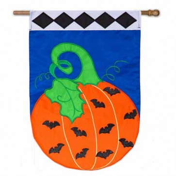 Batty Pumpkin House Flag