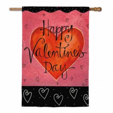 Be Mine / Happy Valentine's Day House Flag