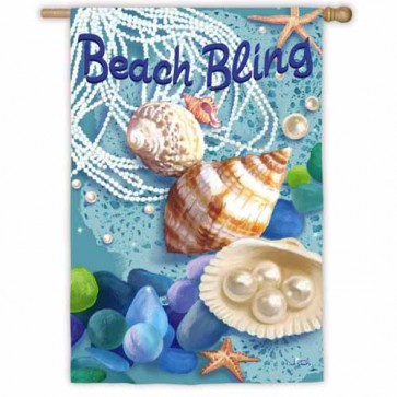 Beach Bling House Flag