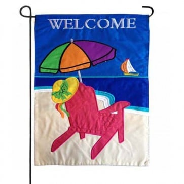 Beach Umbrella Garden Flag
