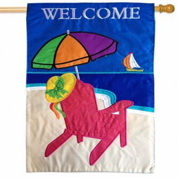 Beach Umbrella House Flag
