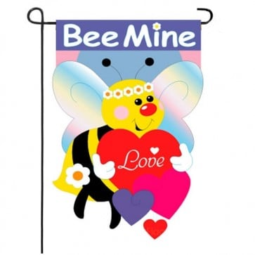 Bee Mine Valentine's Day Garden Flag