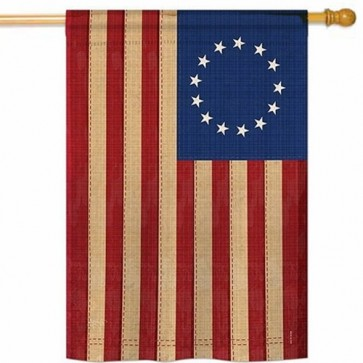 Betsy Ross Vintage House Flag