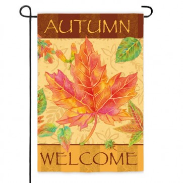 Big Maple Autumn Welcome Garden Flag