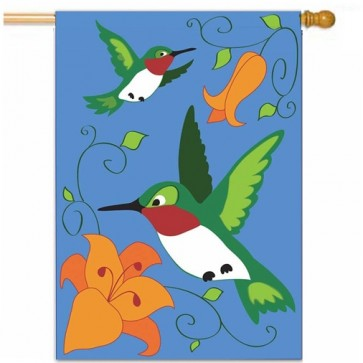 Birds in Flight House Flag