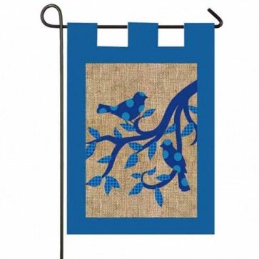 Birds Burlap Garden Flag