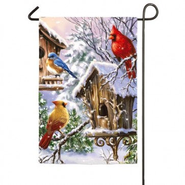 Birds of a Feather Winter Garden Flag
