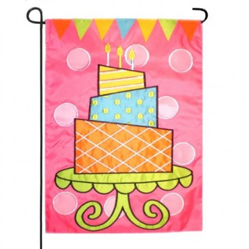 Birthday Cake Garden Flag