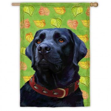 Black Lab House Flag
