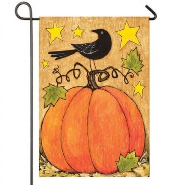 Blackbird and Pumpkin Garden Flag