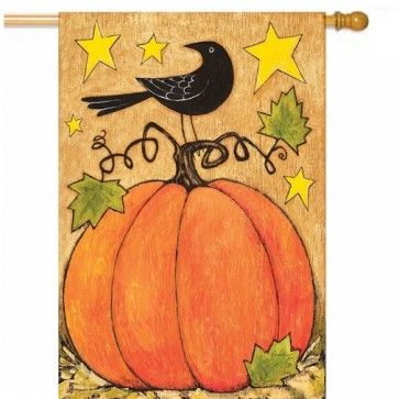 Blackbird and Pumpkin House Flag