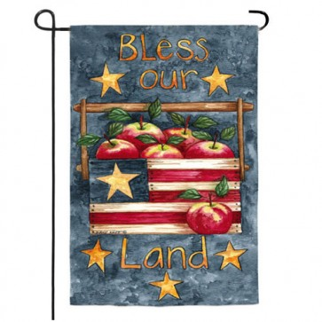 Bless Our Land Garden Flag (Two Different Sides)