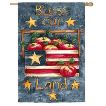 Bless Our Land House Flag (Two Flags in One)