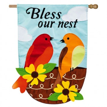 Bless Our Nest   House Flag