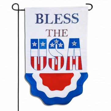 Bless the USA Bunting Garden Flag