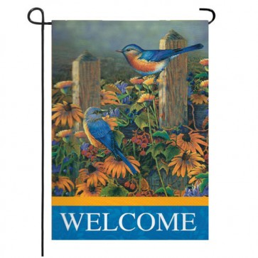 Bluebirds Garden Flag