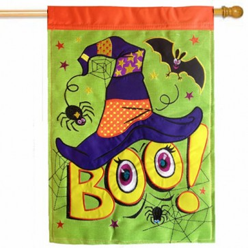 Boo (Burlap) House Flag