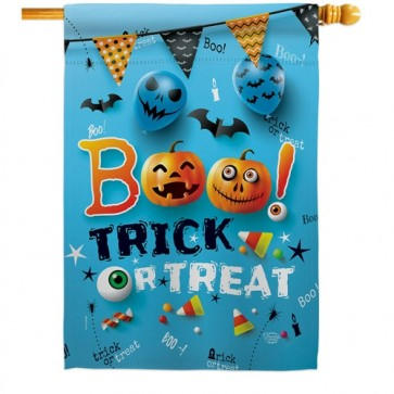 Boo Trick or Treat House Flag