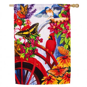 Bouquet Bike House Flag