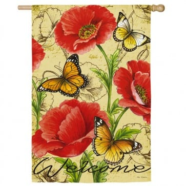 Bright Florals Spring and Summer House flag