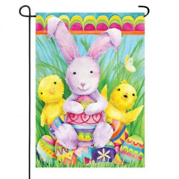 Bunny and Friends Garden Flag