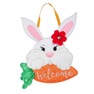 Bunny Welcome  Felt Door Hanger