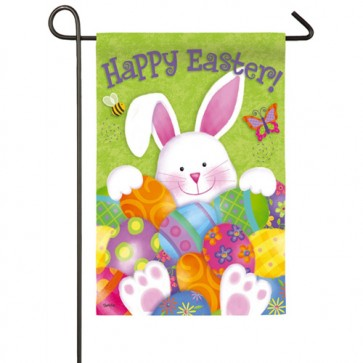 Bunny with Eggs Easter Garden Flag