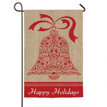 Burlap Happy Holidays Garden Flag (Different Sides)