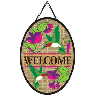 Hummingbirds Door Banner