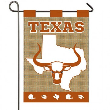 Burlap Texas Longhorns Garden Flag