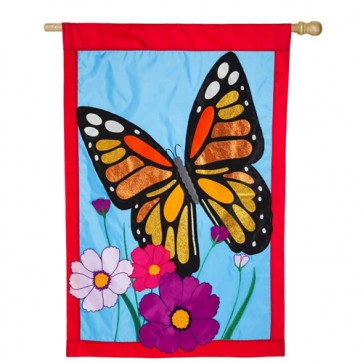 Butterfly Spring and Summer  House Flag