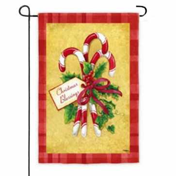 Candy Cane Bouquet Garden Flag