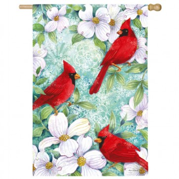 Cardinal and Dogwood  House Flag