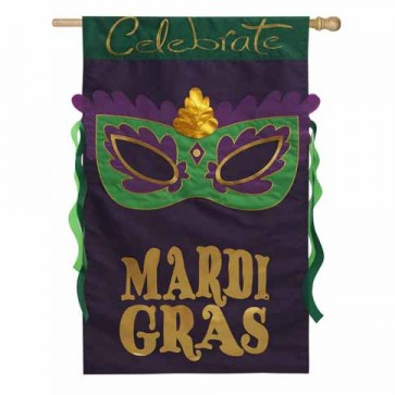 Celebrate Mardi Gras House Flag