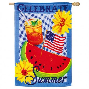Celebrate Summer House Flag