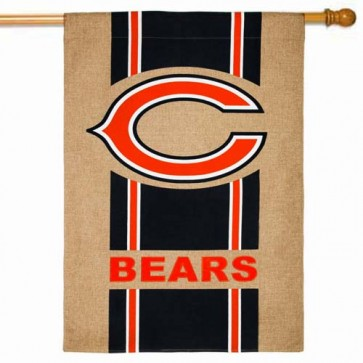 Chicago Bears Burlap House Flag