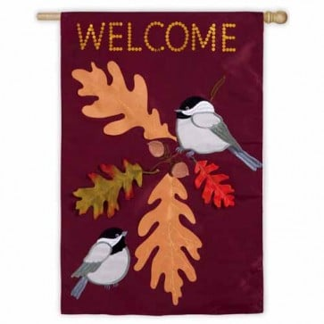 Chickadee Welcome  House Flag