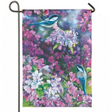 Chickadees Garden Flag