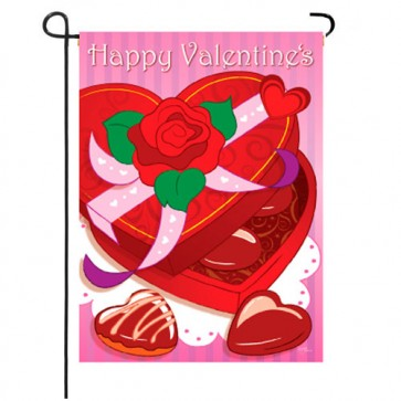 Chocolates Valentine's Day Garden Flag