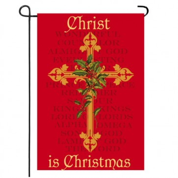 Christ is Christmas Garden Flag