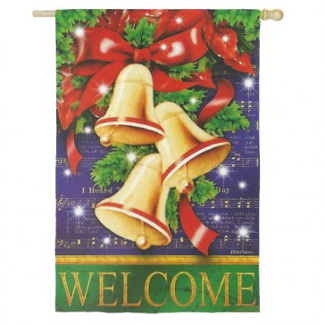 Christmas Bells House Flag