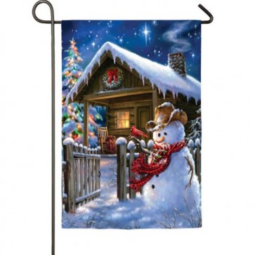 Christmas Cottage Garden Flag