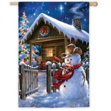 Christmas Cottage  House Flag
