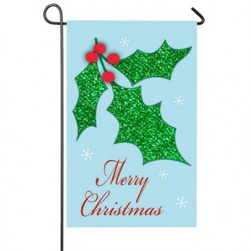 Christmas Holly Garden Flag