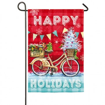Christmas Party Bike Christmas Garden Flag