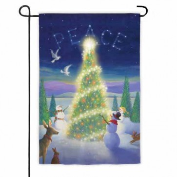 Christmas Peace Garden Flag
