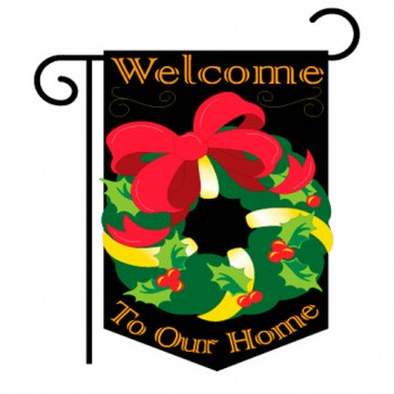 Christmas Wreath Christmas Garden Flag