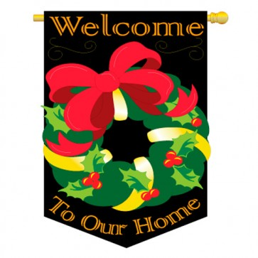 Christmas Wreath Christmas House Flag