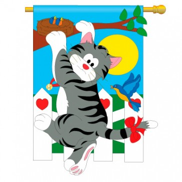 Climbing Cat House Flag